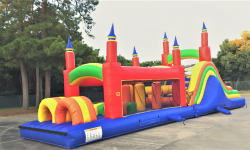 Rainbow mega obstacle course